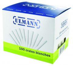 Boîte de 100 craies blanches - bâtons ronds