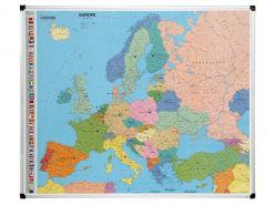 Carte d'Europe magnétique 103x124 cm