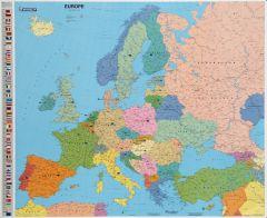 Carte d'Europe souple plastifiée 125 microns 103x124 cm