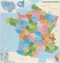 Carte de France administrative  - souple