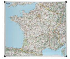 Carte routière France Michelin - magnétique cadre aluminium