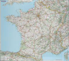 Carte de France souple plastifiée 125 microns 103x113 cm