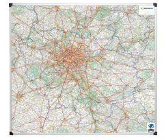 Paris et banlieue magnétique 101x110 cm