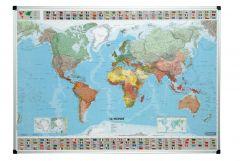 Cartes du monde magnétique 103x146 cm