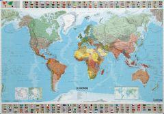 Cartes du monde souple plastifiée 125 microns 103x146 cm