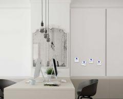 Tableau blanc Chameleon sans cadre émail  blanc - angle arrondi 118 x 238 cm