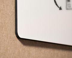 Tableau blanc Chameleon sans cadre émail  blanc - détail angle arrondi