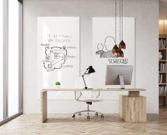 Tableau Blanc mural sans cadre Chameleon Smit Visual - angle droit