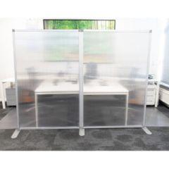 Cloison de séparation bureau semi-transparente 180x120 cm