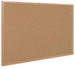 Panneau d'affichage liège cadre bois 60x45 cm