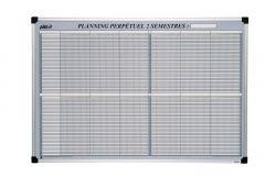 Planning 2 semestres magnétique 60x90 cm
