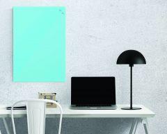 Tableau verre magnétique turquoise