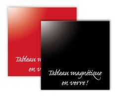 Tableau en verre magnétique - teinte rouge 35x35 cm
