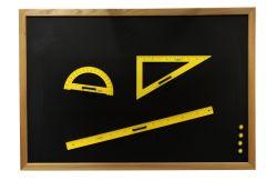 Tableau Vintage cadre bois massif -teinte claire 120 x 300 cm